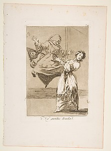 Don't scream, stupid (No grites, tonta), from The Caprices (Los Caprichos), plate 74