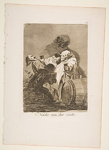 No one has seen us (Nadie nos ha visto), from The Caprices (Los Caprichos), plate 79