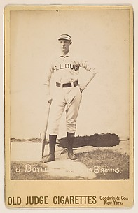 Jack Boyle, Catcher, St. Louis Browns, from the series Old Judge Cigarettes