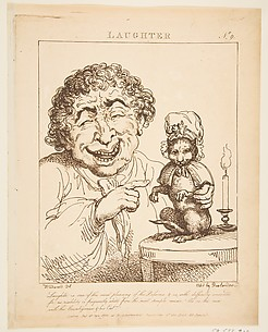 Laughter, from Le Brun Travested [sic], Or Caricatures of the Passions