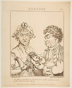 Sadness, from Le Brun Travested [sic], Or Caricatures of the Passions