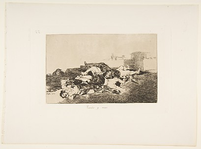 Even Worse (Tanto y mas), from The Disasters of War (Los Desastres de la Guerra), plate 22