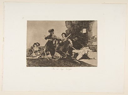 There Isn't Time Now (Ya no hay tiempo), from The Disasters of War (Los Desastres de la Guerra), plate 19
