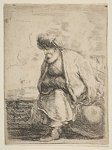 An Old Turk Seated on a Stone