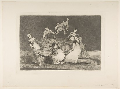Feminine Folly (Disparate femenino), from the series, Disparates, or Los Proverbios, plate 1
