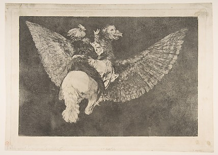 Flying Folly (Disparate volante), from the Disparates (Follies), or Los Proverbios, plate 5
