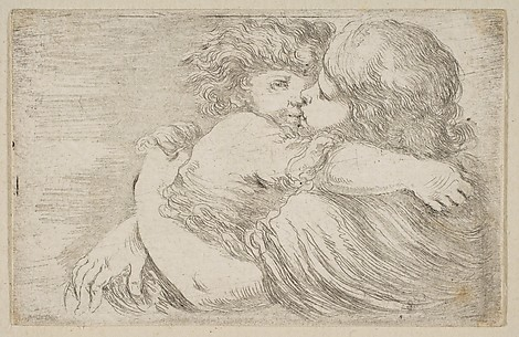Two Children Embrace