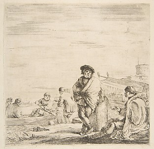 A Standing Sailor Talking to a Seated Levantine