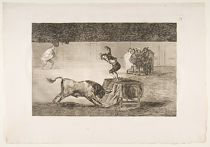 Another madness of his in the same ring, plate 19 of La Tauromaquia