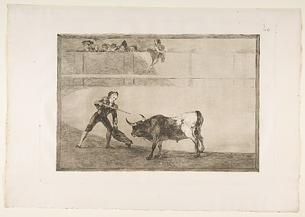 Pedro Romero killing the halted bull, plate 30 of La Tauromaquia