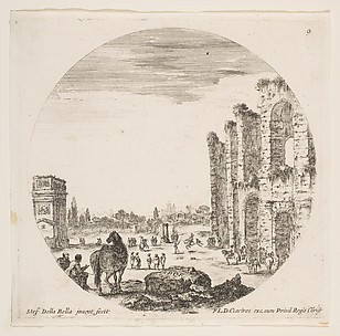 Partial Views of the Colosseum and the Arch of Constantine
