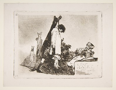 Not This Time Either (Tampoco), from The Disasters of War (Los Desastres de la Guerra), plate 36