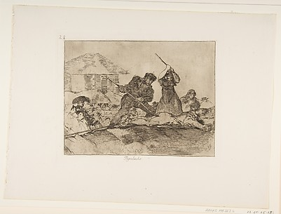 Rabble (Populacho), from The Disasters of War (Los Desastres de la Guerra), plate 28