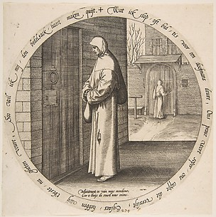 One Begs in Vain at the Door of the Deaf, from Twelve Flemish Proverbs