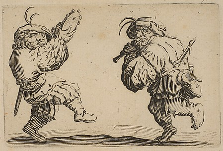 Les Danseurs a la Flute et au Tambourin (Two Dancers Playing the Flute and the Tambourine), from Les Caprices Series B, The Nancy Set