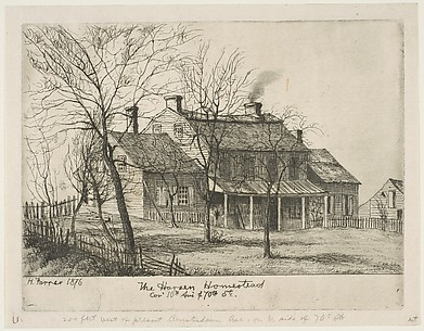 The Harsen Homestead, Corner of 10th Avenue and 70th Street
