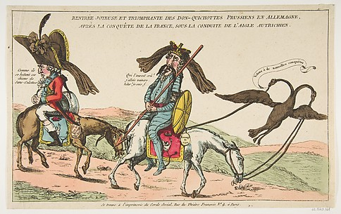 Rentrée joyeuse et triomphale des Don-Quichottes Prussiens en Allemagne, après la conquête de la France, sous conduite de l'Aigle autrichien (The Joyous Triumphal Entry of the Prussian Don Quixote into Germany after the Conquest of France, Accompanied by the Austrian Eagle)