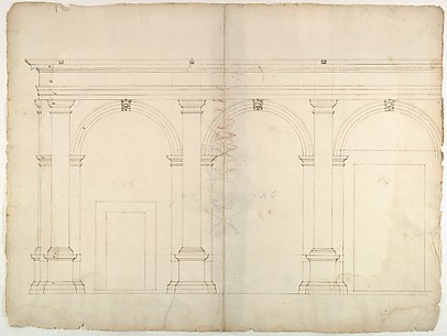 S. Maria in Domnica, portico, elevation (recto) blank (verso)