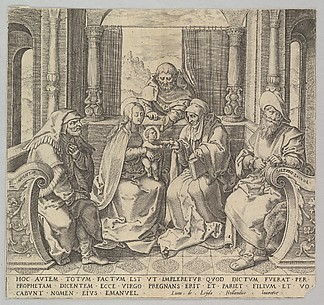 The Holy Kindred, (Virgin and Child with Joseph, Anne and Two Male Saints) (copy)