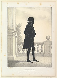 Silhouette Portrait of John Marshall