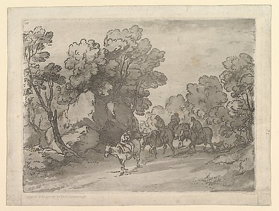 Wooded Landscape with Riders