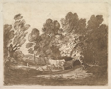Wooded Landscape with Herdsmen and Cows