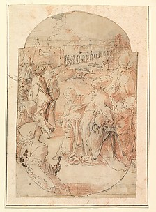 The Consecration of the Site of a Church in Rome by a Pope (