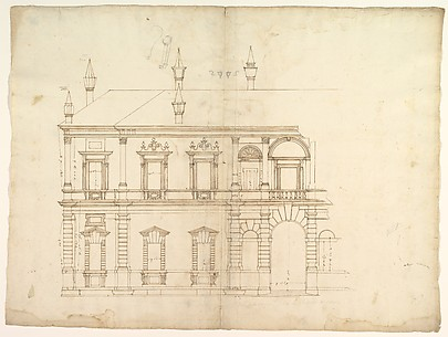 Villa Giulia, Casino, elevation