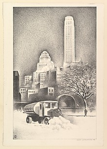 New York Snow Scene