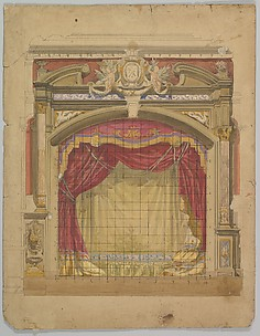 Design for a Stage Set: Casino de St. Etienne