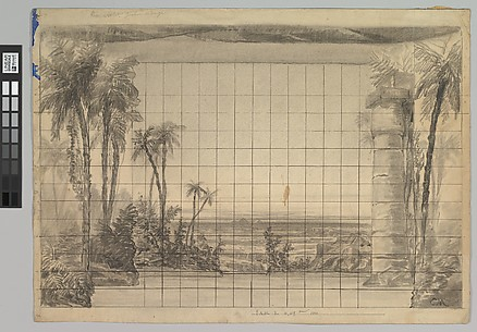 Design for a Stage Set: Backdrop of Tropical Landscape