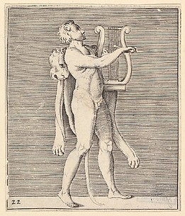 Man Playing a Lyre and Wearing a Lionskin (Hercules?)