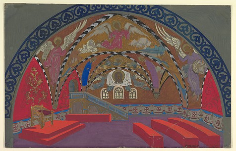 Stage Design for Boris Godounov for the Opera Russe de Paris on its South American Tour, 1929-30
