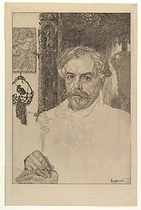 Portrait of Edmond de Goncourt
