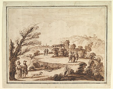 Landscape with Figures and Fortifications.