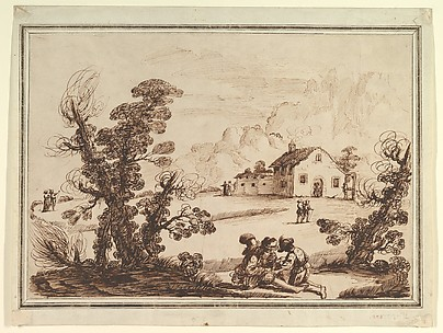 Landscape with Figures and a Farm House