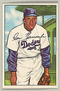 Don Newcombe, Pitcher, Brooklyn Dodgers, from the series Picture Cards (no. 128)