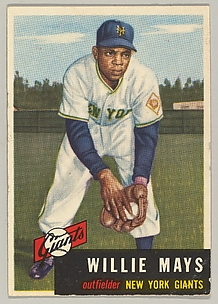 Card number 244, Willie Mays, Outfielder, New York Giants, from the series Topps Dugout Quiz (R414-7), issued by Topps Chewing Gum Company