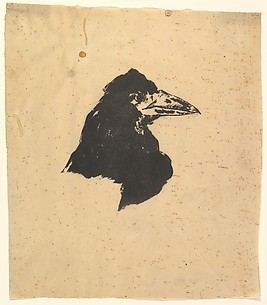 Design for the poster and cover for The Raven by Edgar Allan Poe