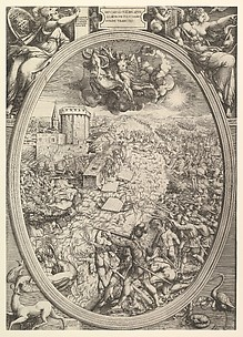 The Army of Charles V Crossing the Elbe River