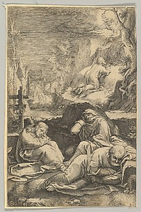 The Agony in the Garden, from The Passion of Christ, plate 2