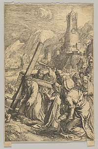 Christ Carrying the Cross, from The Passion of Christ, plate 9