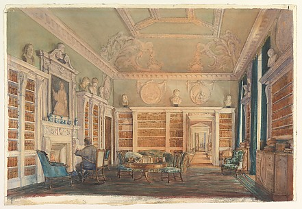 View of the Library, Kirtlington Park, Oxfordshire
