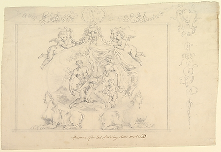 Design for the painting, Mars, Venus & Cupid for the Dining Room at Kirtlington Park, Oxfordshire