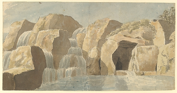 Design for Rock-work and Cascades at Virginia Water, Windsor Great Park