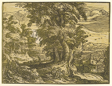 Landscape with Seated Couple