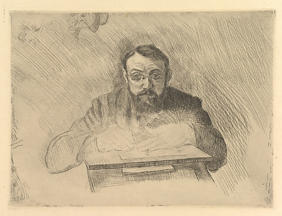 Self-Portrait of the Artist Etching
