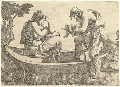 Danae and the Infant Perseus Cast Out to Sea by Acrisius