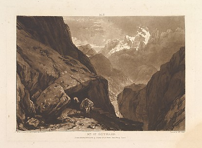 Mt. St. Gothard, from Liber Studiorum, part II