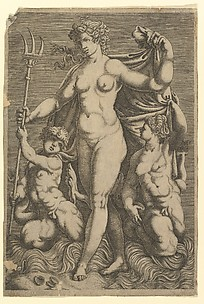 Thetis Standing with Two Tritons